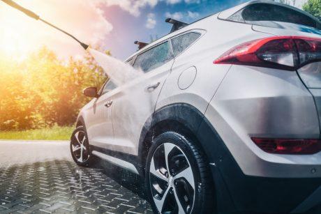 Biltvätt med högtryck